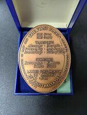 Australia The First Fleet Medallion Arthur Phillips Botany Bay