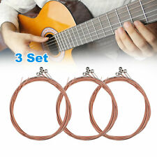 3 Set of 6pcs Guitar Strings Set for Acoustic Guitar String Instrument Accessory