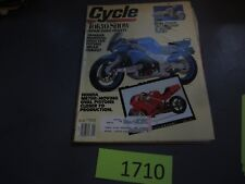 Cycle Magazine January 1990 Tokyo Show, Yamaha Mprpho, Honda NR750, Suzuki SW-1