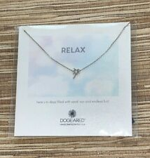 """Dogeared~Sterling Silver Necklace~RELAX~18""""~Palm Tree~Sun and Sand~NWT"""