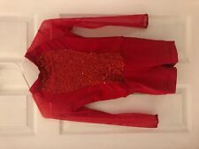 ice skating costume- red size 12 girls