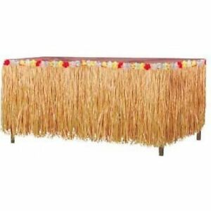 Luau Party Natural Grass Table Skirting Luau Decorations & Party Supplies