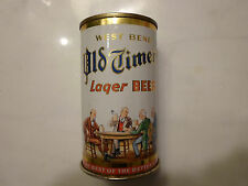 OLD TIMER'S BEER METAL STEEL CAN PULL TAB TOP BOTTOM OPENED