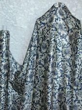 100% Silk Charmeuse Stretch Fabric Vintage Navy Blue S009 2 Yards