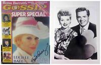Lucille Ball Comeback Rona Barrett Gossip Super Special Magazine '77 + Photo COA