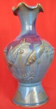 CHINESE SUNG DYNASTY CHUN WARE GLAZED DOUBLE FISHES VASE