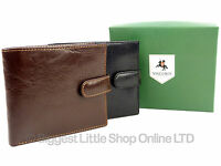 Mens Premium Quality Leather Wallet by Visconti in Black Or Brown Veg Tan