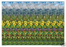 """Butterfly Meadow 18""""x13"""" 3D Stereogram Poster Hidden 3D"""