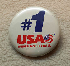 Men's USA Volleyball #1 PIN Pinback 2 1/4 Inch United States of America