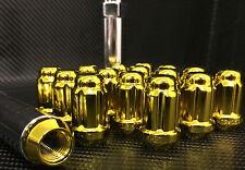 "20 GOLD MUSTANG LUG NUTS | 6 SPLINE TUNER | 1/2""-20 | + KEY |"