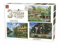 3 in 1 Triple Pack 1000 Piece Thatch Cottage Collection Jigsaw Puzzles 85530
