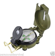 Precision Lensatic Compass W/ Map Scale Metal Body Hunting and Survival Kits