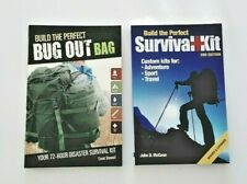 LOT of 2 Build the Perfect Survival Kit AND Bug Out Bag NEW Prepper Hiking Camp