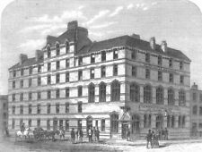 LONDON. Working Mens Club, Old Pye St, Westminster, antique print, 1866