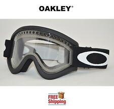 OAKLEY® E FRAME® SNOW GOGGLES DUAL LENS SNOWBOARD SKI MATTE BLACK CLEAR LENS NEW