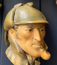 Bossons' Sherlock Holmes Chalkware Character Head, Made in England 1984