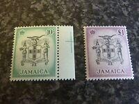 JAMAICA POSTAGE STAMPS SG173-174 10/- & £1 (10/- MARGINAL) UN-MOUNTED MINT