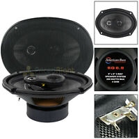 """6x9"""" Inch 3-Way Coaxial Speakers 200W Max Grills Pair American Bass Car Audio"""