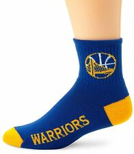 New! Golden State Warriors Mens Large Team Colors Quarter Socks Fits 10-13 Curry