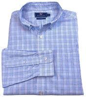 VINEYARD VINES Mens Slim Fit Murray Shirt Long Sleeve Size XL Blue White EUC
