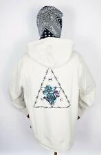 Huf Worldwide Sweatshirt Hooded Pullover Hoodie Dystopia Light Grey in XL