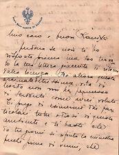 """LETTERA SU CARTA INTESTATA """" REGIA NAVE CONTE DI CAVOUR """" 1926 C6-11"""