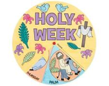 12 Holy Week Colour In Wheel for Kids Church Christian Easter Crafts
