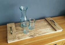 Large Serving Tray-Made from Reclaimed palette bois Rustique Poignées
