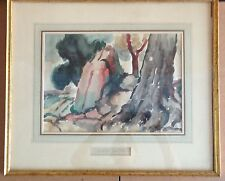 original watercolor landscape signed by Bernard Gussow 1881-1957