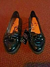 New girls Black Patent school  Shoes Size 4 - from f+f - scuff resist