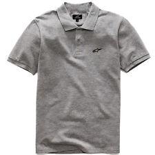 Genuine Alpinestars Motorcycle Surfing SBK Streetwear Grey Men Polo Tee T-Shirt