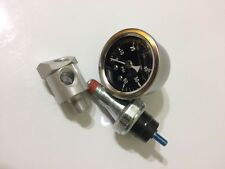 60 psi oil pressure switch, gauge, dual use fitting 1984/later evolution harley