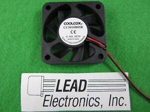 COOL-COX 50MM x 10MM  5VOLT-D/C Cooling Fan New 2-INCH SQUARE CC5010H05B-2510-2P
