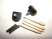 """PAIR 3/8"""" 9.5mm 115 pin BLACK METAL STILETTO HIGH HEEL SHOE TOPS TIPS TUBES KIT"""