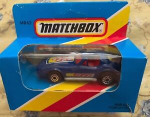 Matchbox MB 62 Corvette 1981 Blue Box Rare New Unopened!     Box 1