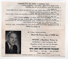 1968 LARRY SMITH New Hampshire Primary Flyer VICE PRESIDENT Political RACIST Cox