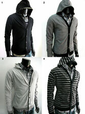 Cotton Hooded Striped Regular Jumpers & Cardigans for Men