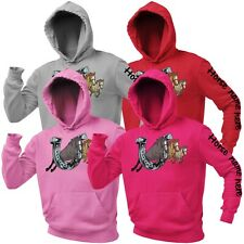 Personalised Horse Riding Hoodie Gift for Girls Equestrian Ladies Hoody Pink Top