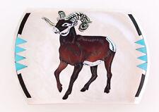 Big Horn Sheep Belt Buckle Zuni Handmade by Dale Edaakie