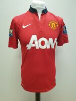 R321 MENS NIKE MANCHESTER UTD 13-14 RED AON CHICHARITO FOOTBALL SHIRT UK S EU 46