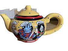 New listing China~Catzilla Candace Reiter Ceramic Tea Pot