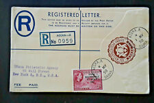 1958 Accra Ghana To New York NY Registered Letter Cover