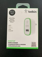 Belkin Boost Up Home and Wall Charger 12W 2.4Amp iPhone 6 7 SE  8 Plus iPod Pro