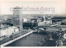 1988 Press Photo River Liffey Waterfront 1980s Dublin Ireland