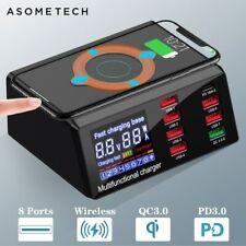 Station De Charge Rapide 8 Ports USB 3.0 Adaptateur HUB Sans Fil Chargeur 100 W