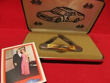Case 1991 Geoff Bodine 52131 Stag Canoe Knife Mint In Case Rare Tang Stamp SN828
