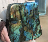 5500g Natural Labradorite Quartz Mineral specimens Crystal healing,