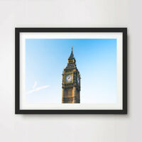 BIG BEN LONDON ART PRINT Poster City Home Decor Wall Photo Landscape Blue Sky