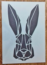Shabby Chic Stencil A3 Artistic Hare geometric Rabbit (420x297mm) wall furniture