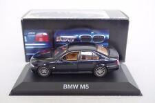 1:43 BMW m5 e39 5er 5-series limousine berline noir bleu blue black SCHABAK